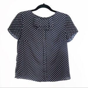 Zara patterned blouse sz S